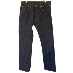 Levi's 501 Dark Wash Straight Leg Jeans (Sz: 33W)